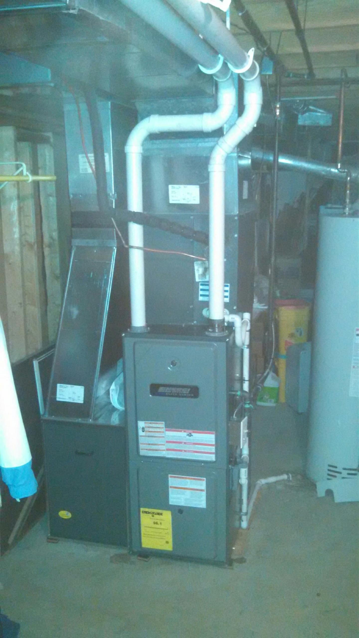 Grand Ledge, MI - Energi Air Elite furnace installation.