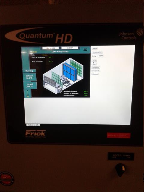 Marietta, GA -  install the new remote service panel for Industrial Refrigeration System