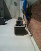 Fruitvale, TX - Installing carrier Bryant air conditioner at first Baptist Church in fruitvale Texas