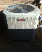 Heath, TX - Install of 4ton air conditioner system Trane condenser and Bryant air handler in Carrollton Texas