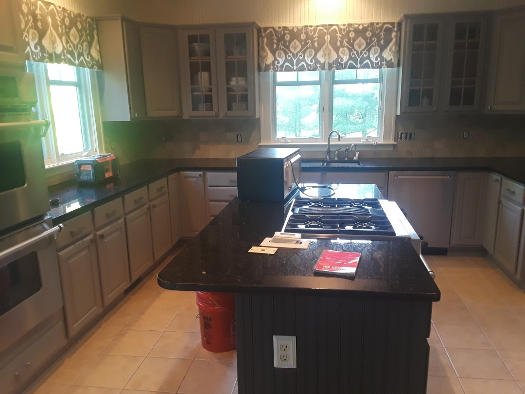 Cannon Township, MI - About to demo out the backsplash for a remodel.  The homeowners are excited about a new kitchen!