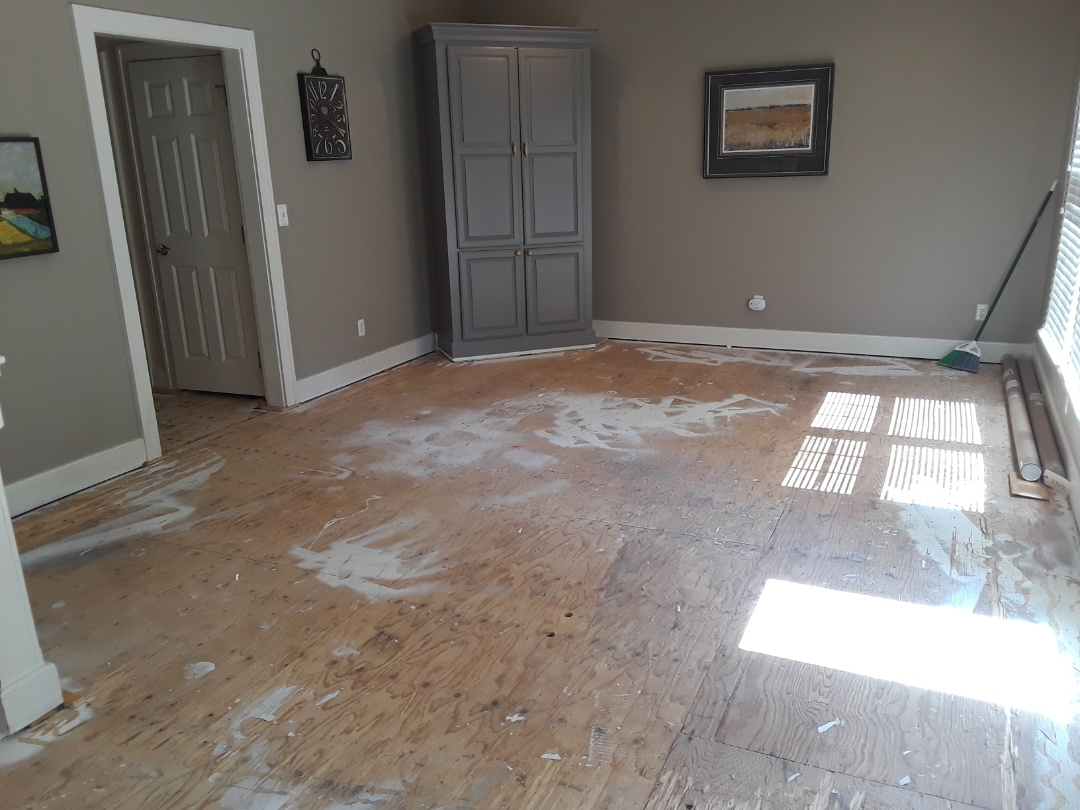 Cannon Township, MI - Hardwood floor has been removed and everything swept up nicely. Next on the list is prepping the walls for the backsplash and prepping the floors for new engineered flooring.   Have a great Fourth of July !