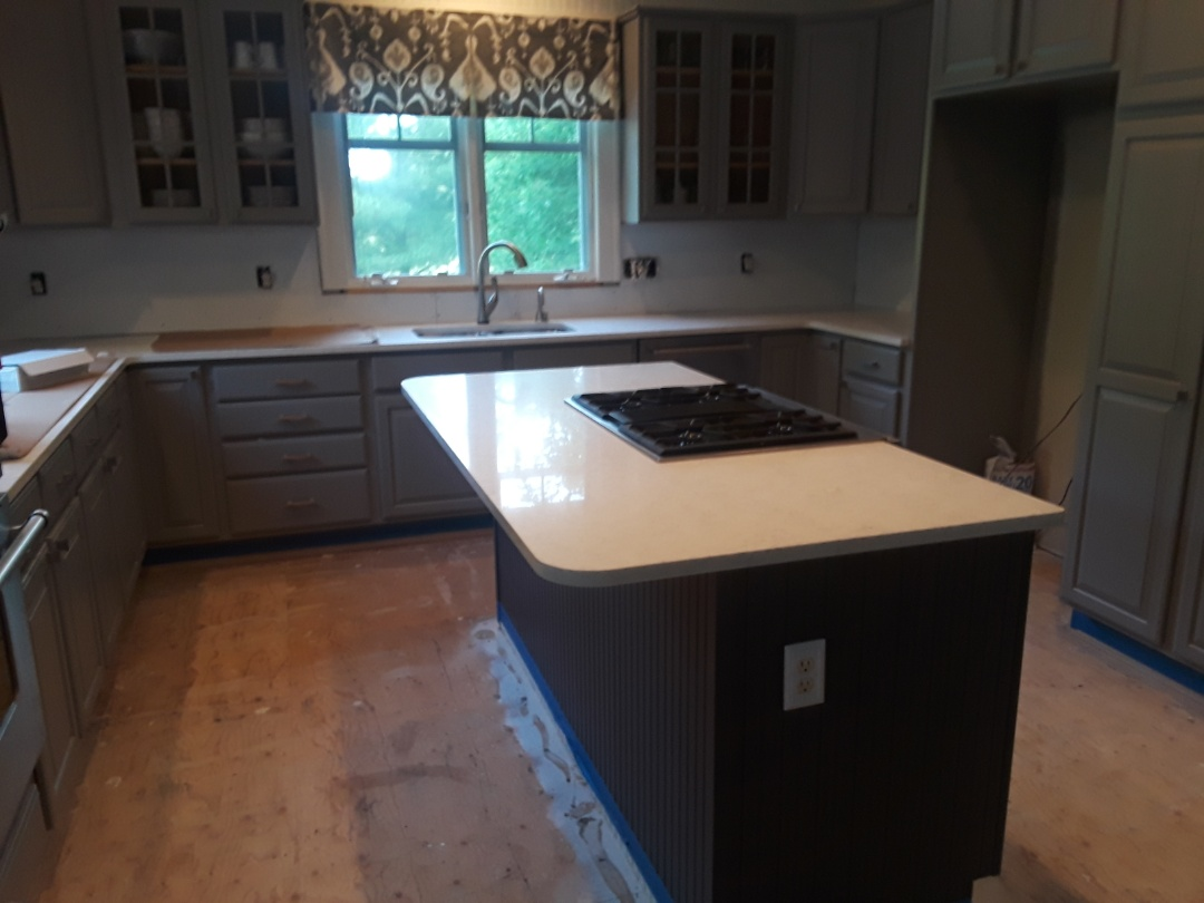 Cannon Township, MI - The new countertops are in.  I'm getting ready to install a new tile backsplash