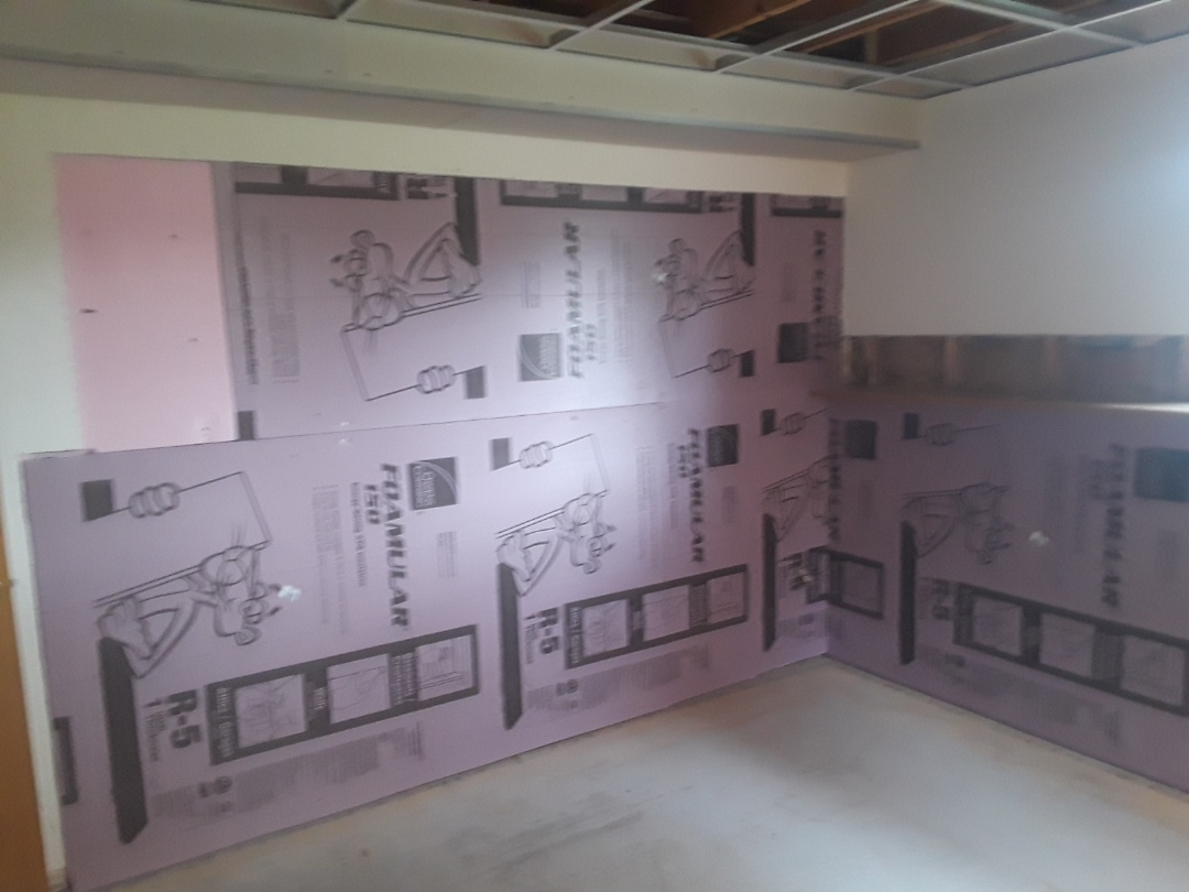 Georgetown Township, MI - Installed the polystyrene insulation over the firing strips yesterday