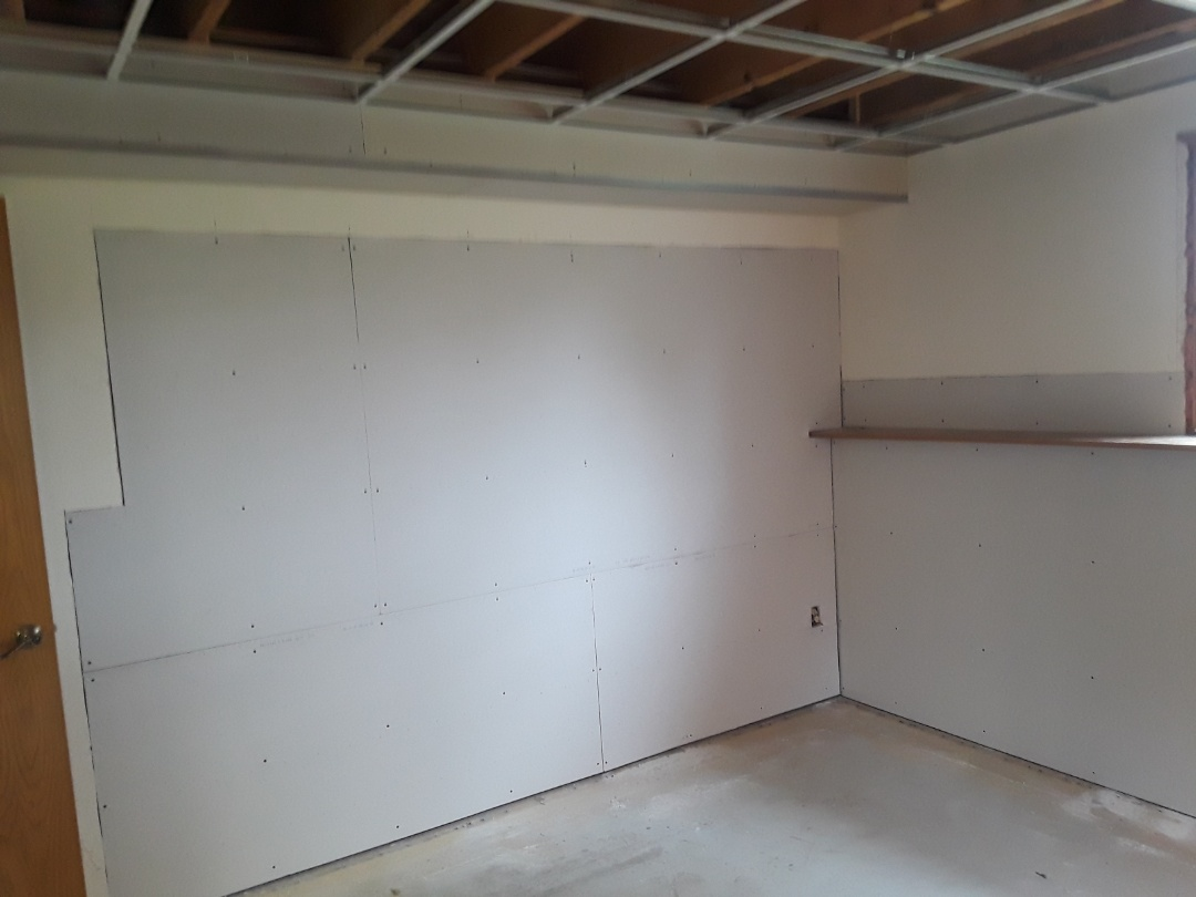 Georgetown Township, MI - Today I installed the drywall.  Making progress ??