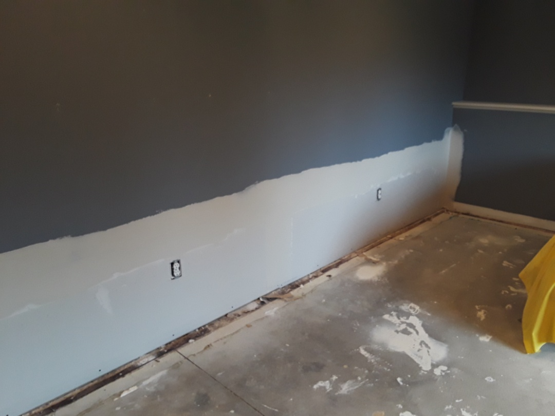 Allendale Charter Township, MI - I've installed the drywall and applied 1 coat of mud.