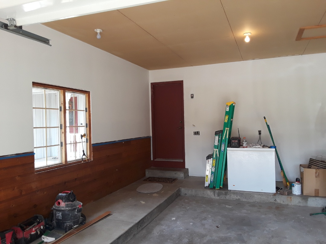 Georgetown Township, MI - Sanded and primed the drywall I hung in the garage.