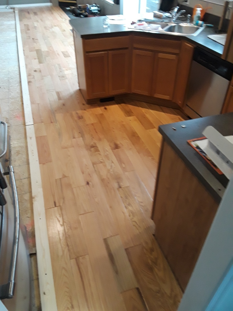 Allendale Charter Township, MI - Didn't get quit as far on the hardwood floor today as I wanted to, but I'm happy with the way its turning out  . . . And the homeowners love it !