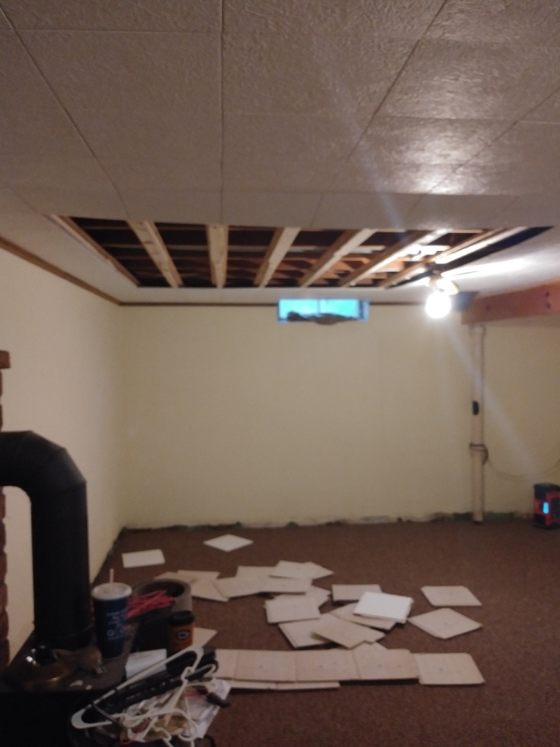 Grand Rapids, MI - Ceiling collapsed in the basement for unknown reason