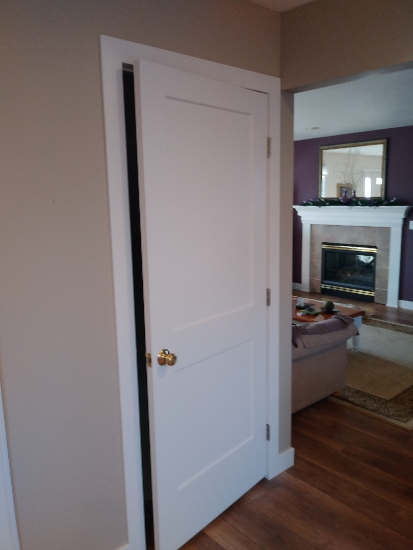 Coopersville, MI - Painted and installed new basement door