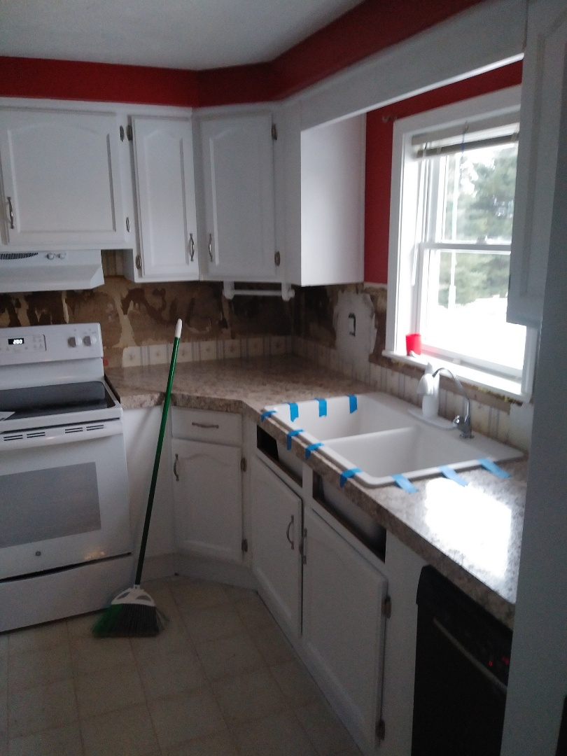 Middleville, MI - Installed the sink, faucet and all associated plumbing