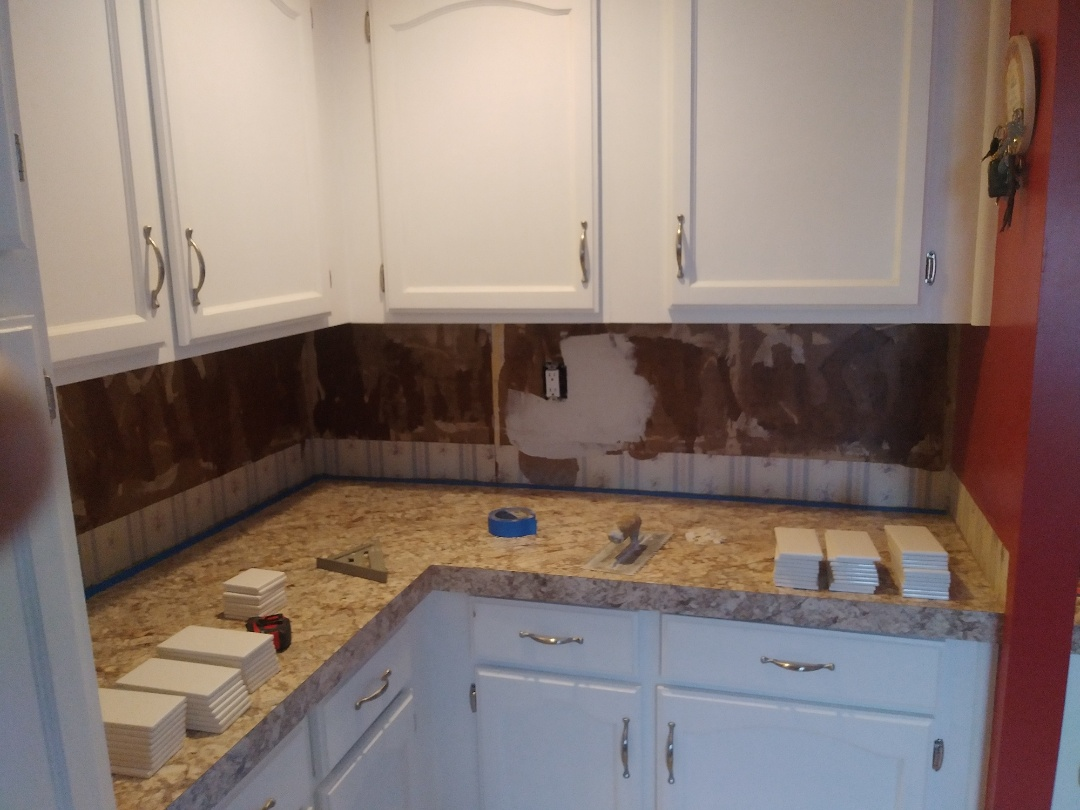 Middleville, MI - About to start laying a tile backsplash