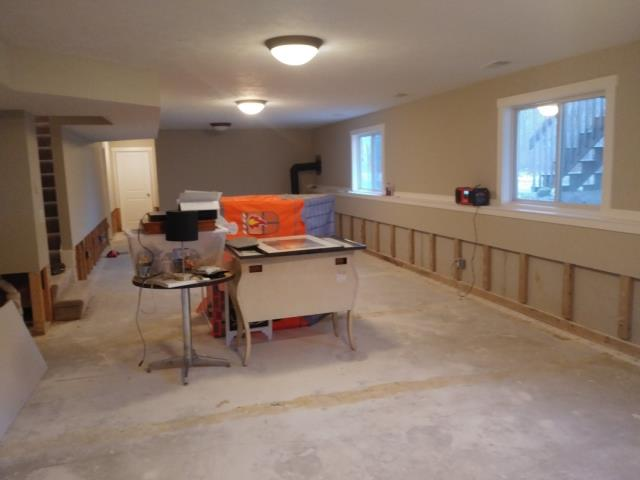 Walker, MI - Prepping for drywall repair. . . . cutting a straight line, removing trim, pulling nails and screws