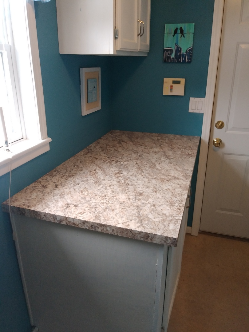 Middleville, MI - Just finished applying new Formica to an existing countertop.