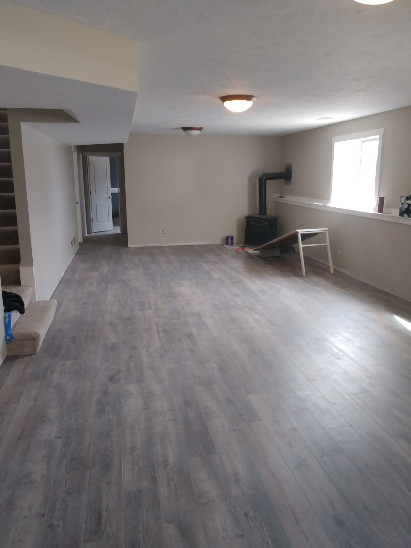 Walker, MI - Made great progress. Finished laying the vinyl plank floor in the living areas and the bedroom