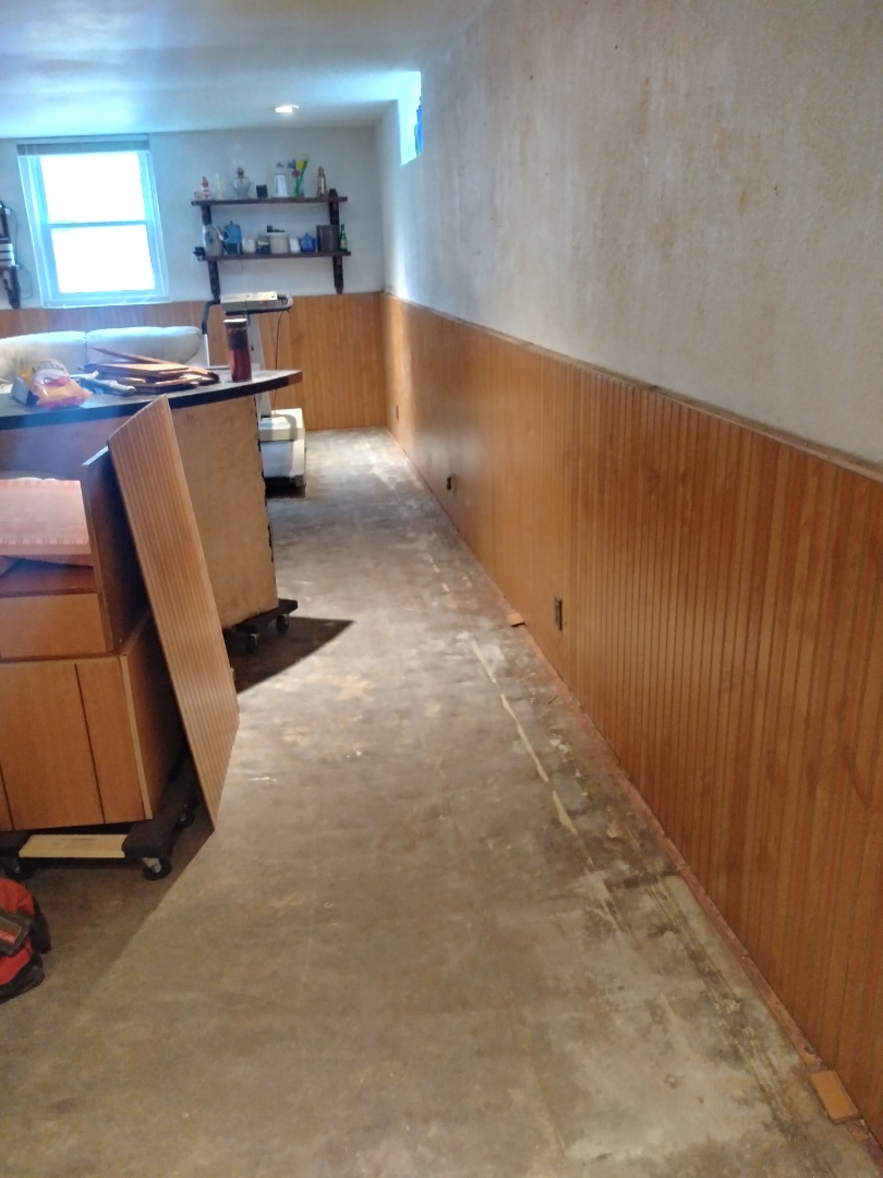 Grand Rapids, MI - The paneling has been installed. Next is new trim