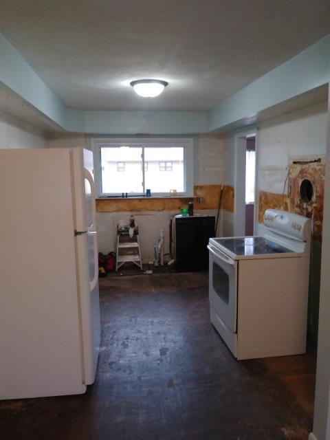 Grand Rapids, MI - Removed all the cabinets, counter tops and back splashes.