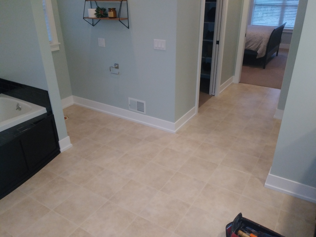 Allendale Charter Township, MI - Prepping to lay a new laminate floor