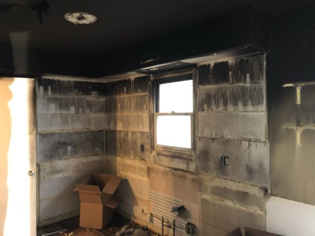 Grand Rapids, MI - Basement fire damage.