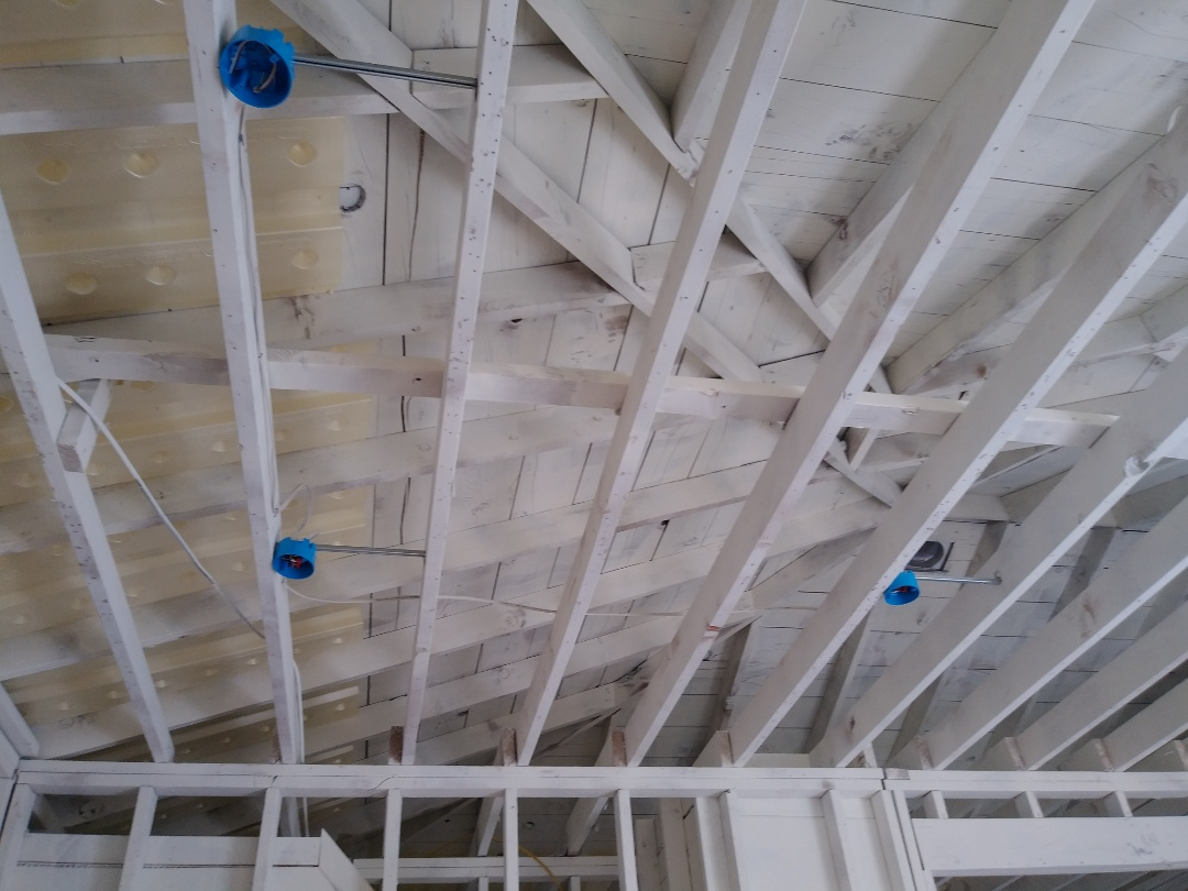 Walker, MI - Installed the Led lights, the baffles for insulation and took care of the questionable wiring in the kitchen and bathroom