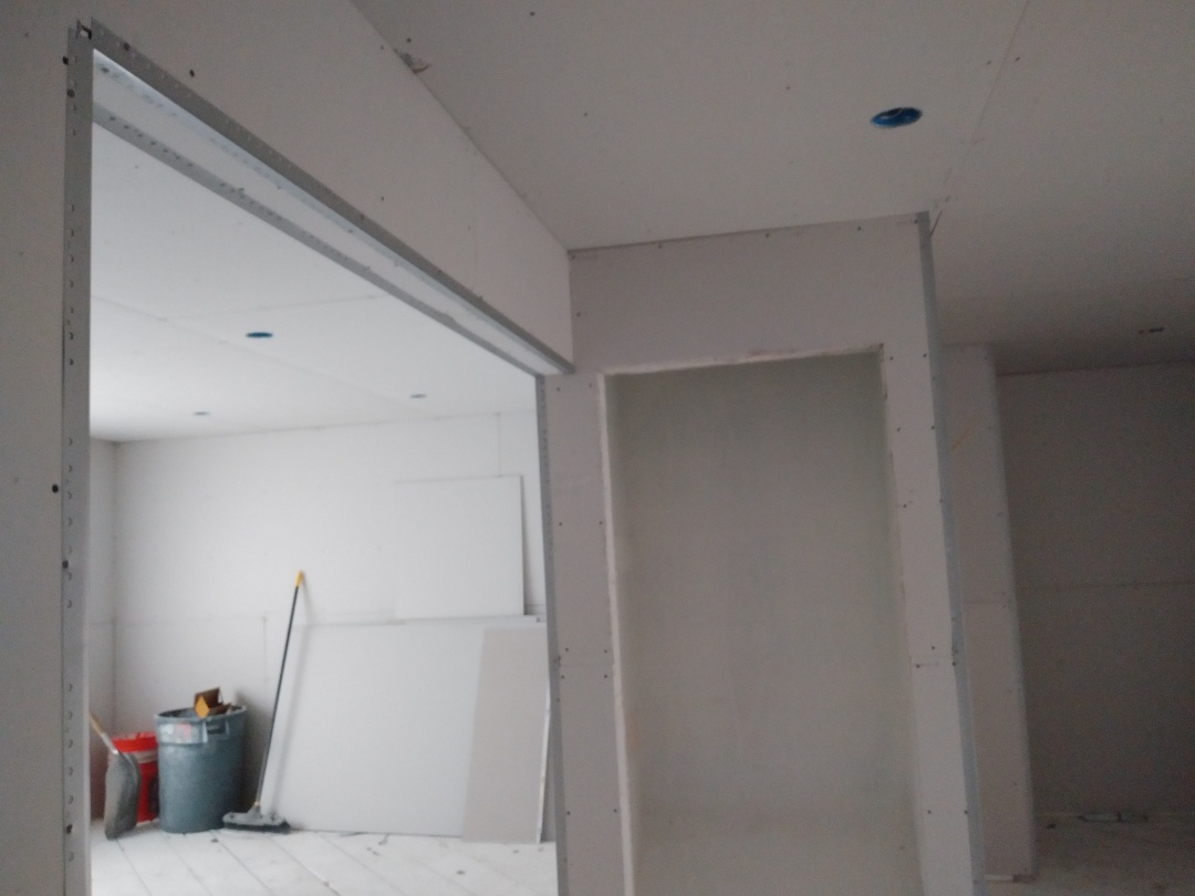 Grand Rapids, MI - Finished hanging all the drywall and corner bead.  Making fantastic progress
