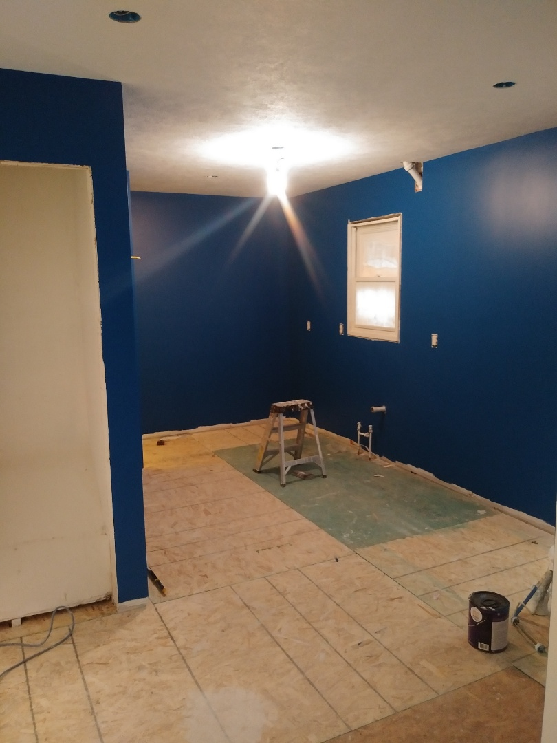 Grand Rapids, MI - Painted the hallway, stairwell, kitchen and dining room today