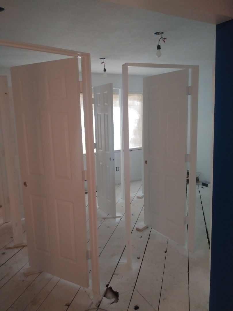 Walker, MI - Came in on Sunday to get the doors 2nd coated so we can get them installed on monday