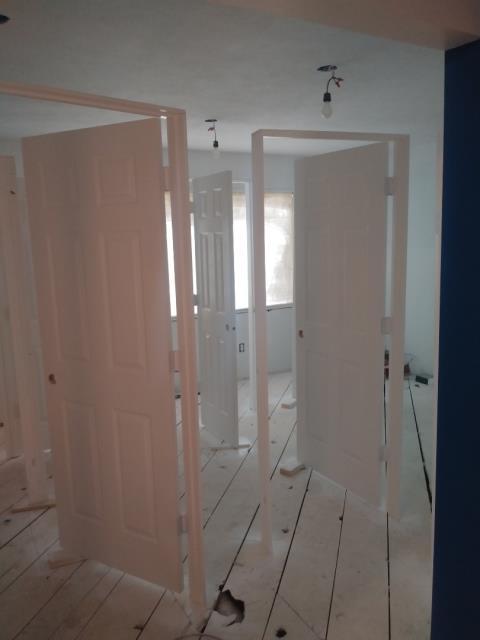 Grand Rapids, MI - Updated door with second coat of paint. Had fire damage.