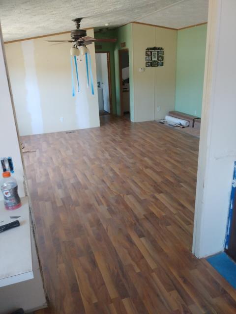 Grand Rapids, MI - Installing new flooring because of water damage.