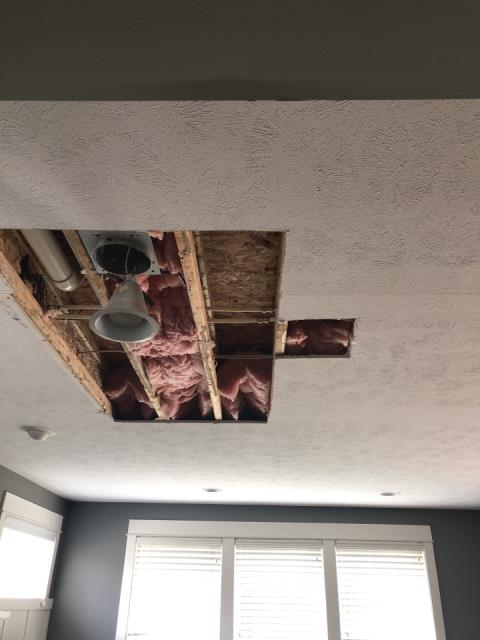 Grand Rapids, MI - Removed drywall and fixed leaking pipe.