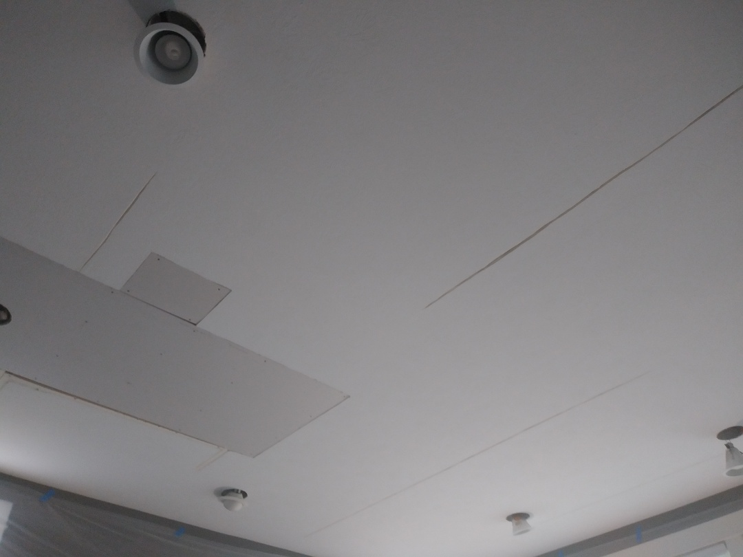 Grand Rapids, MI - Removed and replaced water damaged drywall and reamed out popped seams