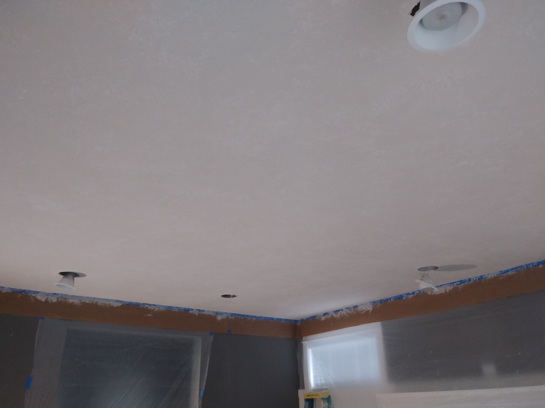 Grand Rapids, MI - Protected the walls and retextured the ceiling.