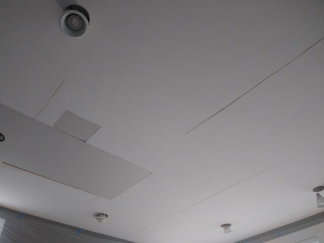 Grandville, MI - Removed and replaced water damaged drywall and reamed out popped seams.