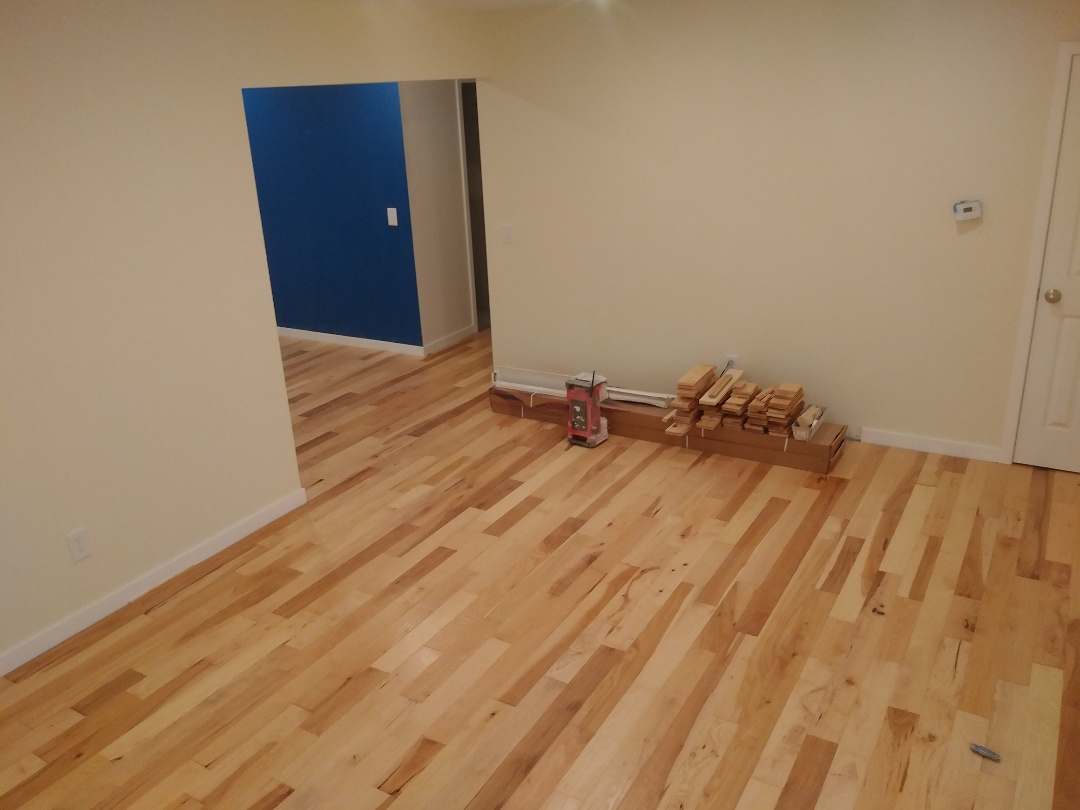 Walker, MI - Finished the new hickory floor ??