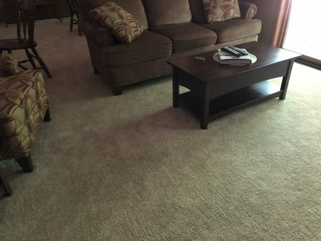 Grand Rapids, MI - Water restoration job completed. New carpet was installed water damage from basement toilet.