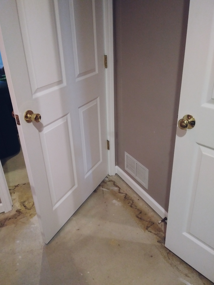 Kentwood, MI - Caulking is done. Nail holes have been filled and touch-up painting is complete.