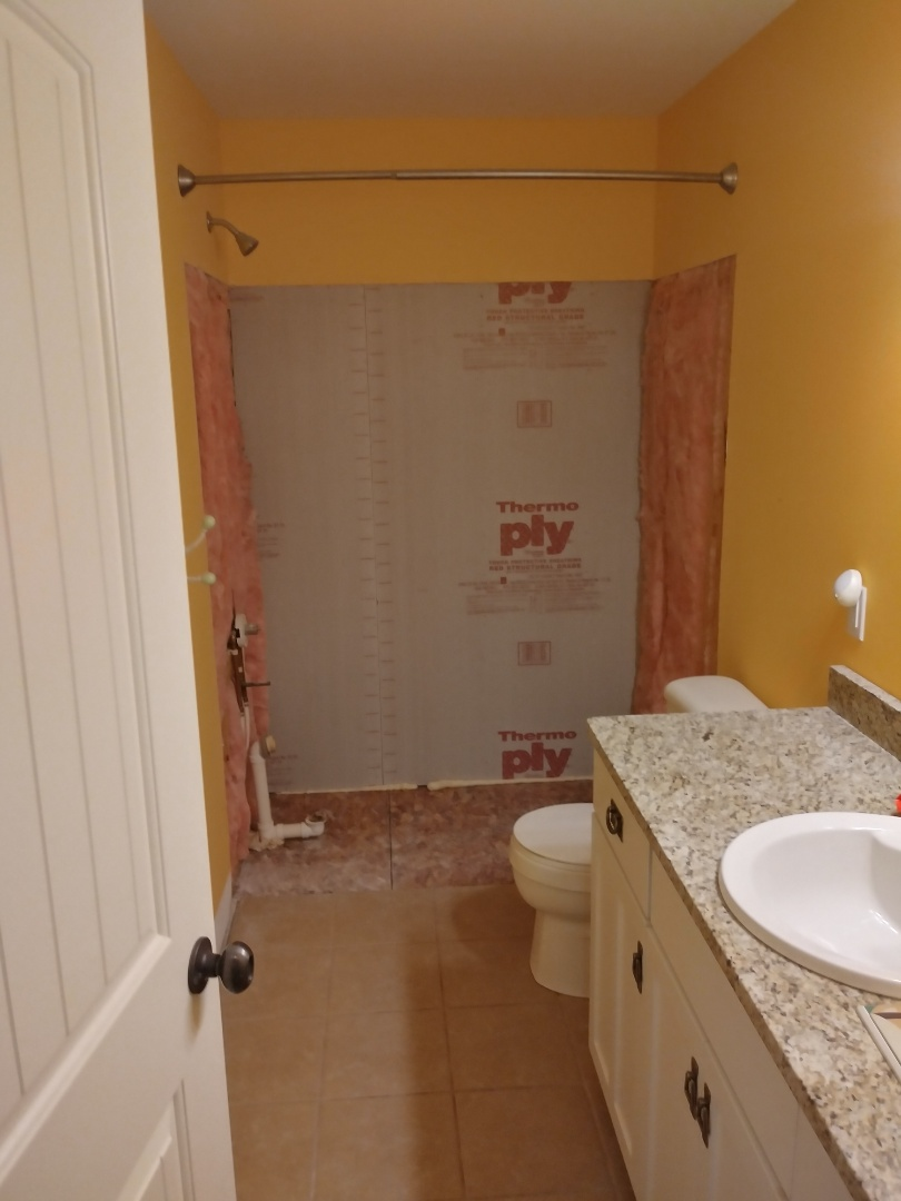 Grand Rapids, MI - The fiberglass tub unit has been removed. I call it surgical demolition. It's clean, neat, causes no damage and is safe.
