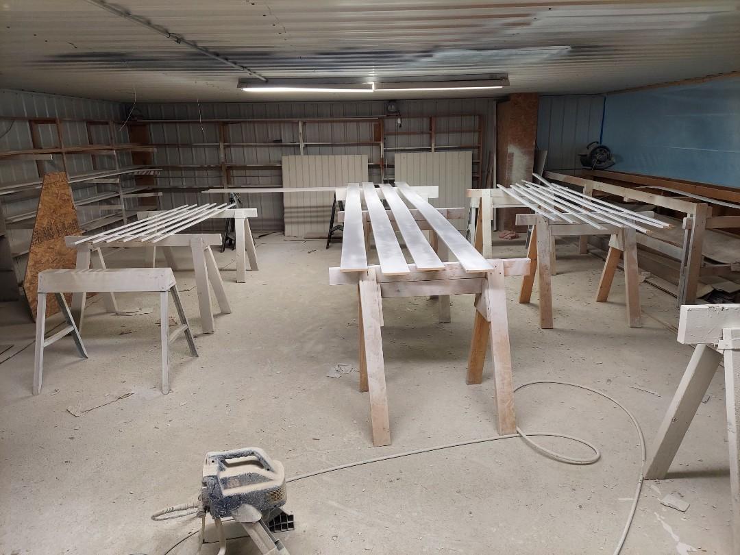 Georgetown Township, MI - Prepainting trim before installation