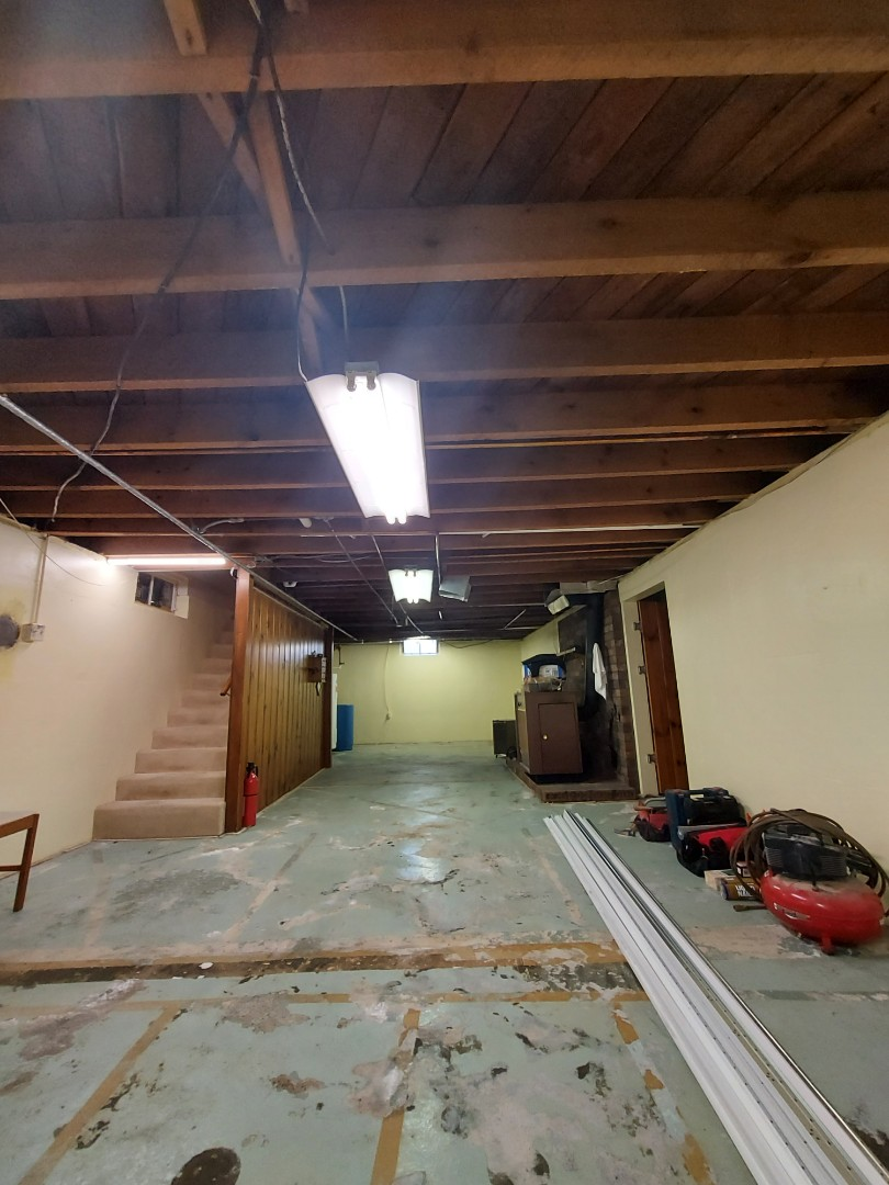 Wayland, MI - Preparing to hang a drop ceiling
