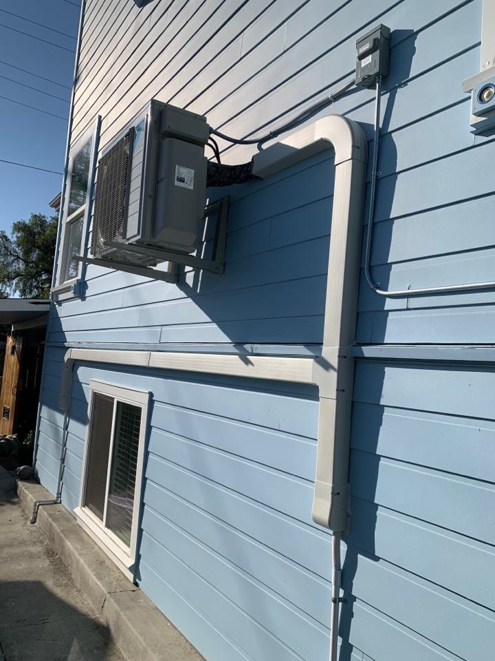 Benicia, CA - Installed Daikin 2 Zone Heat Pump Mini Split System