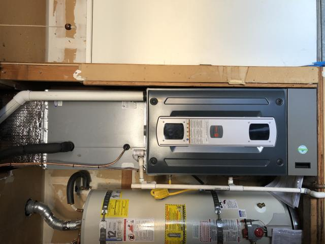 Benicia, CA - Installed a new Trane furnace and air conditioner and filtration.