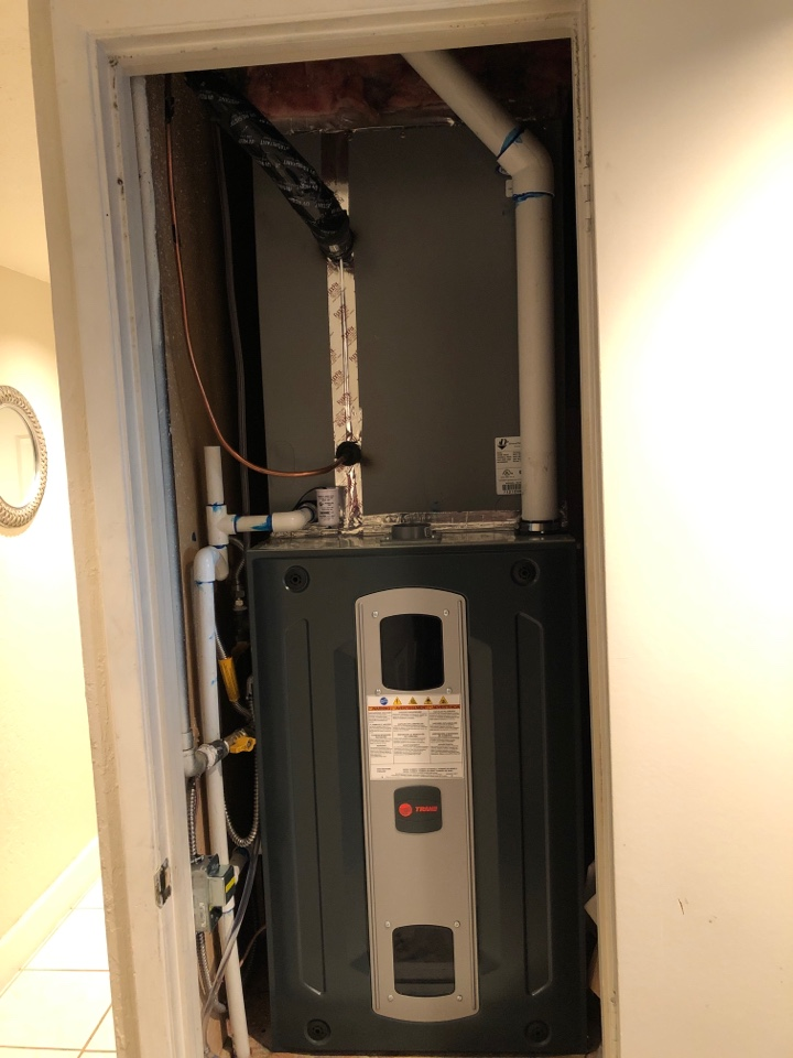 Benicia, CA - Finished install Trane 97% 2 stage variable furnace and 17 seer 2 stage AC