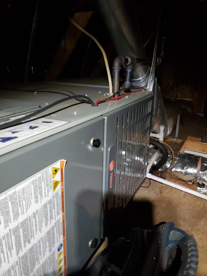 Salem, VA - Gas furnace tune up in a hot attic..........