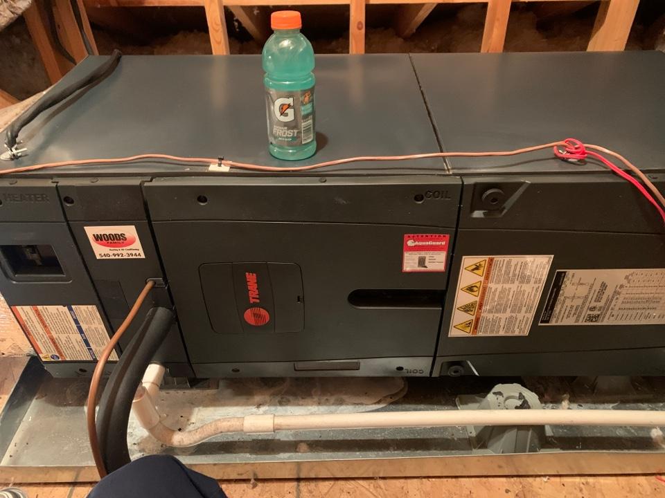 Salem, VA - Maintenance on trane heat pump in Salem va 24153