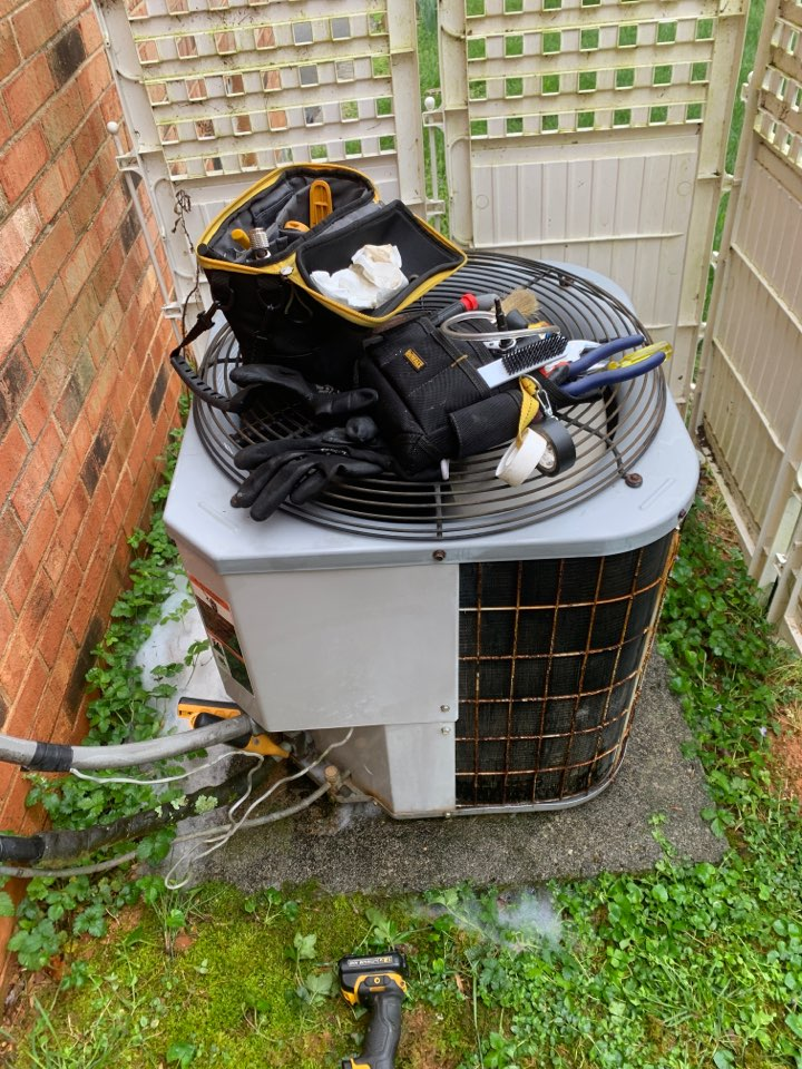 Cave Spring, VA - Maintenance on carrier air conditioner with woods signature series furnace in Roanoke va 24018