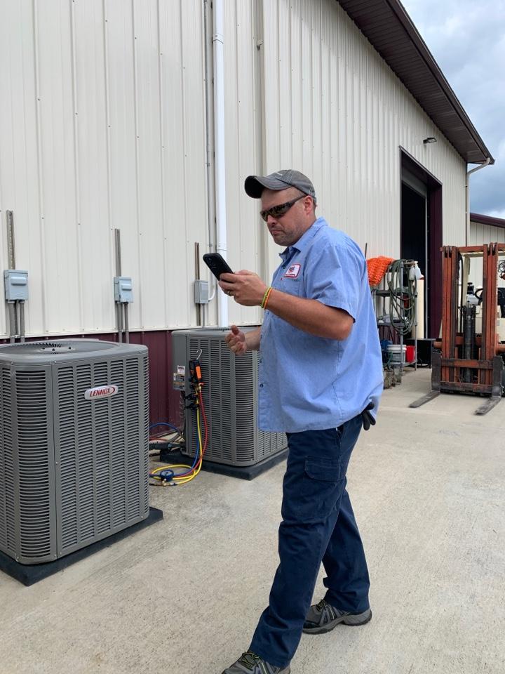 Hollins, VA - Coil changeout on lennox heat pump in upstairs closet Roanoke va 24019