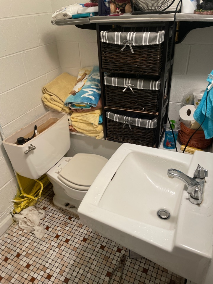 Stephens City, VA - Changing out a toilet and lavatory sink and replaced laundry sink with wall hung