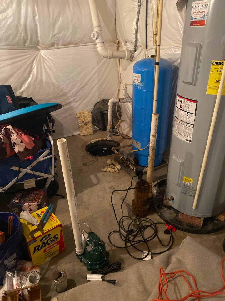 Winchester, VA - Faulty sump pump replacement