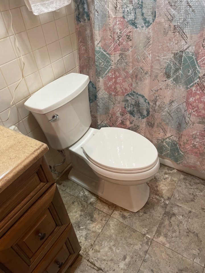 Stephens City, VA - Changing out toilet for a customer