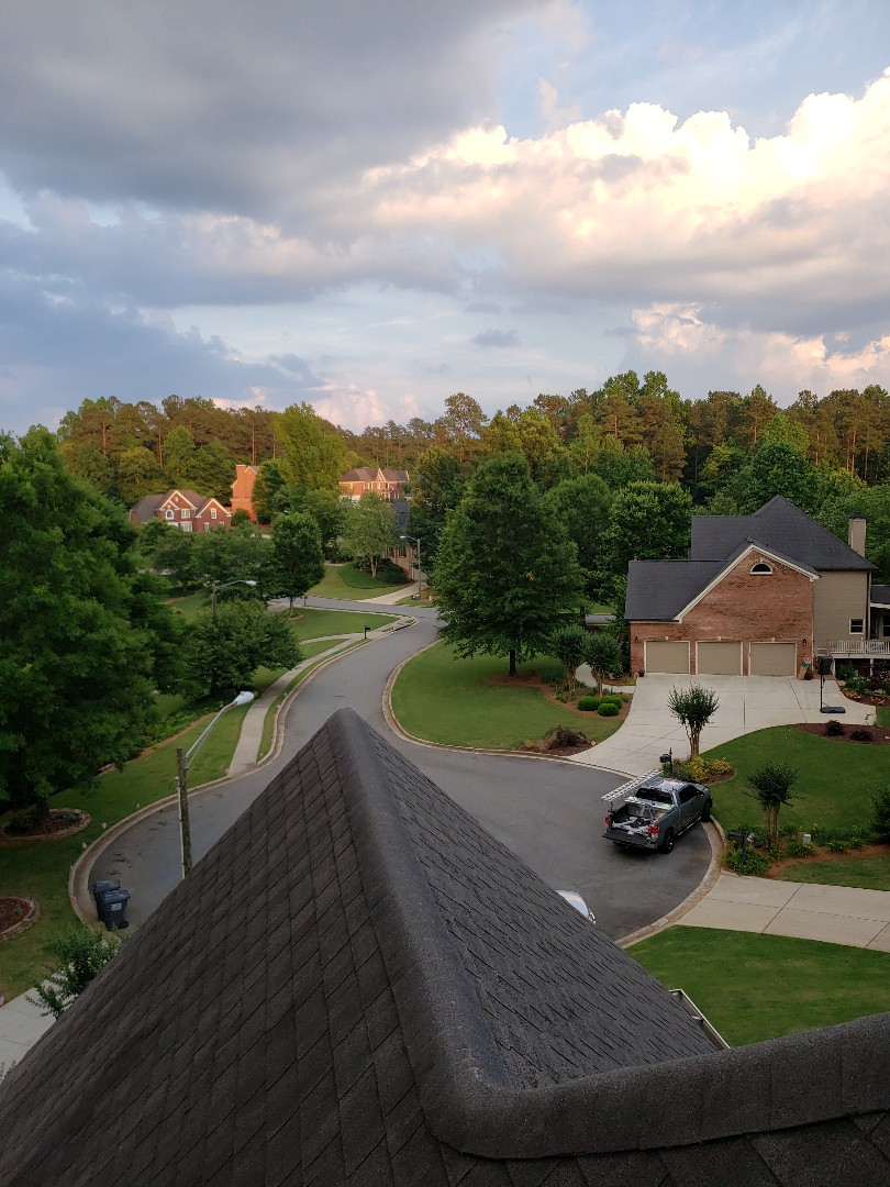 Kennesaw, GA - Today we got a call from the neighbor of a homeowner we assisted in getting a new roof from hail damage caused last March! Your home may have enough hail damage to warrant a full roof replacement from storms that blew through last March and again in July. If are interested in getting a professional roof inspection done by trained professionals give us a call at Infinity Roofing. We'll give you the truth and consult with you during the entire process. 404.644.2454.